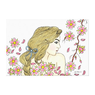 Cherry Blossom Canvas Stretched Canvas Prints