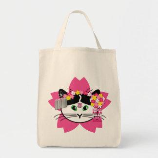 Cherry-blossom cat bag