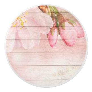 Cherry Blossom Ceramic Knob