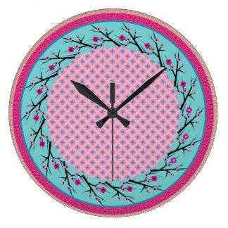 Cherry Blossom Clock