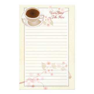 Cherry Blossom Coffee Stationery