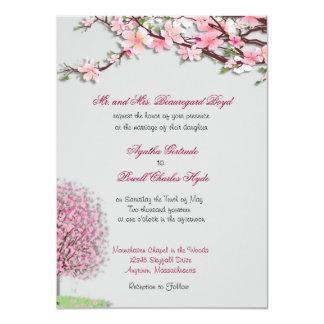 Cherry Blossom Custom Wedding Invitations