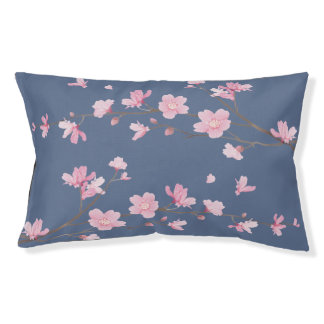 Cherry Blossom - Denim Blue Pet Bed