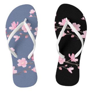 Cherry Blossom - Denim Blue Thongs