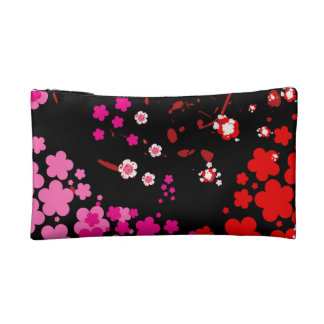 Cherry blossom design 3 cosmetic bags