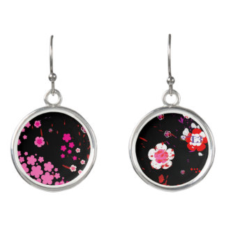 Cherry blossom design 3 earrings