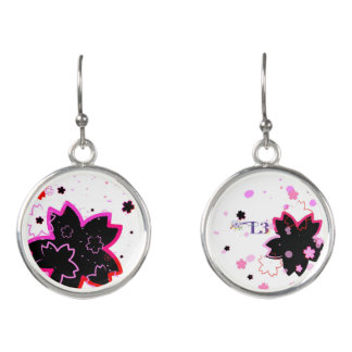 Cherry blossom design 4 earrings