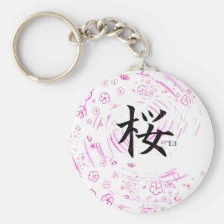Cherry blossom design key ring