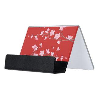 Cherry Blossom Desk Business Card Holder