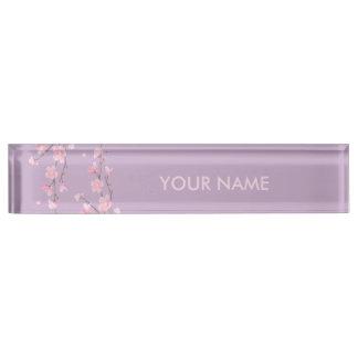 Cherry Blossom Desk Nameplates