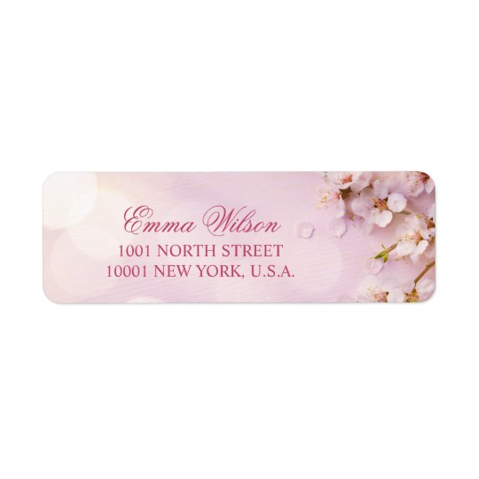 Cherry Blossom Elegant Return Address Labels