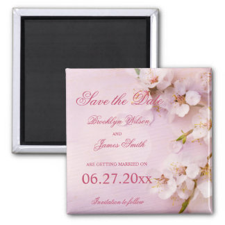 Cherry Blossom Elegant Save The Date Magnets
