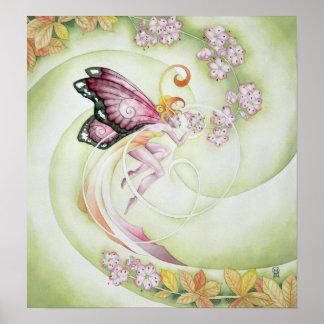 Cherry Blossom Faery Poster