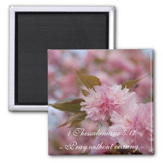 Cherry Blossom Faith Magnet