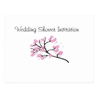 Cherry Blossom Favors Ideas, Wedding Shower Theme Postcard