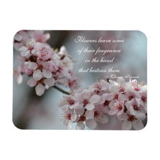 Cherry Blossom Floral Rectangular Photo Magnet