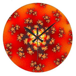 Cherry Blossom Floral Sprinkles Clock
