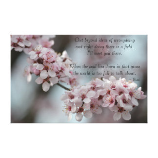 Cherry Blossom Floral Tolerance Stretched Canvas Print