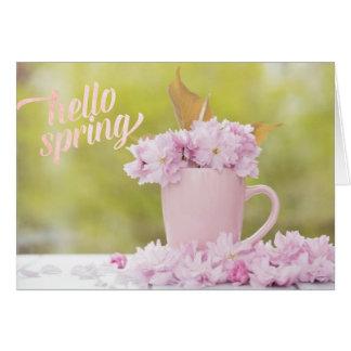 Cherry Blossom Flower Floral Stilllife Spring Text Card