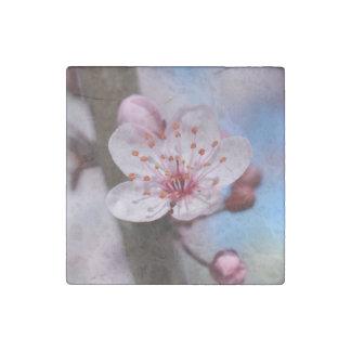 Cherry Blossom Flower Stone Magnet
