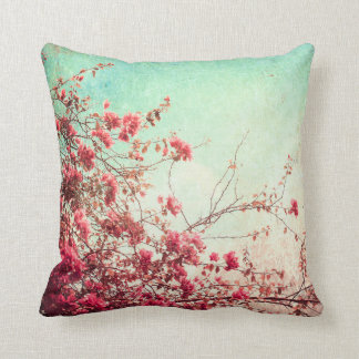 Cherry Blossom Flowers Floral Throw Couch Pillow