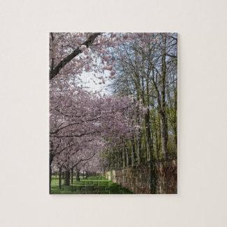 Cherry Blossom Garden Jigsaw Puzzle