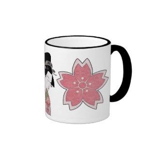 Cherry Blossom Geisha Coffee Mugs