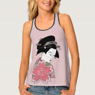 Cherry Blossom Geisha Singlet