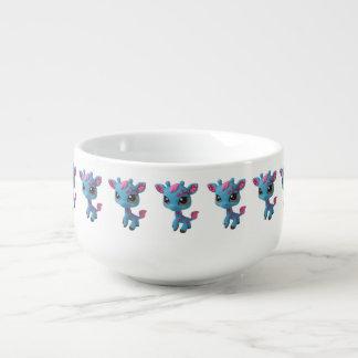 Cherry Blossom Giraffe Soup Mug