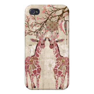 Cherry Blossom Giraffes i iPhone 4 Covers