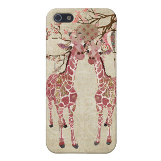 Cherry Blossom Giraffes iPhone Case iPhone 5 Covers