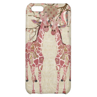 Cherry Blossom Giraffes iPhone Case iPhone 5C Cases