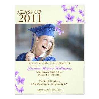 Cherry Blossom Graduation (Today's Best Award) 11 Cm X 14 Cm Invitation Card