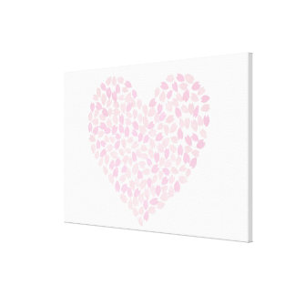 Cherry Blossom Heart Gallery Wrapped Canvas