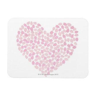 Cherry Blossom Heart Rectangular Photo Magnet