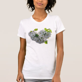 Cherry Blossom Heart T Shirts