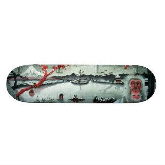 Cherry Blossom Hot Springs - Sk8 Street Art Deck Skate Board