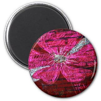 Cherry Blossom in chalk 6 Cm Round Magnet