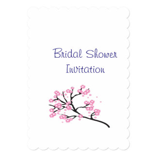 Cherry Blossom Inexpensive Bridal Shower Party Card