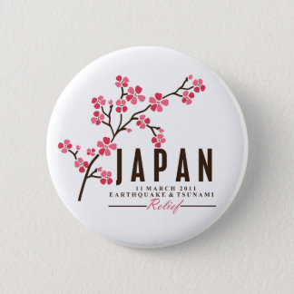 CHERRY BLOSSOM - JAPAN 6 CM ROUND BADGE