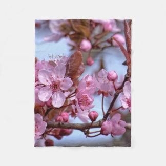 Cherry Blossom Japanese Fleece Blanket