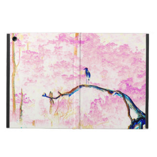 Cherry Blossom Landscape with bird iPad Air Cover