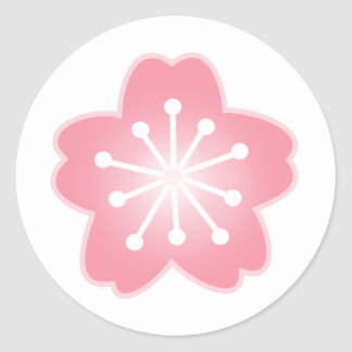 Cherry Blossom Light Pink Envelope Stickers