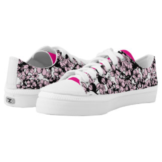 Cherry blossom Low Top Shoes Printed Shoes