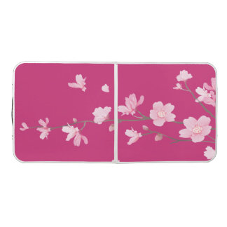 Cherry Blossom - Magenta Beer Pong Table