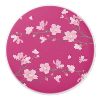 Cherry Blossom - Magenta Ceramic Knob