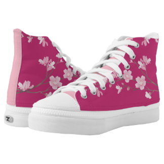 Cherry Blossom - Magenta High Tops