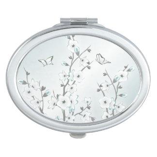 Cherry Blossom  Mint White Makeup Mirrors