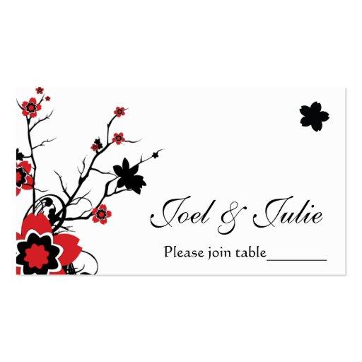 Cherry Blossom Modern Custom Table / Place Card Business Card Template