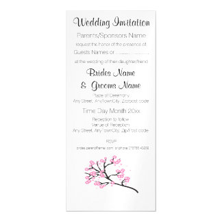 Cherry Blossom Modern Simple Elegant Wedding Ideas Magnetic Card